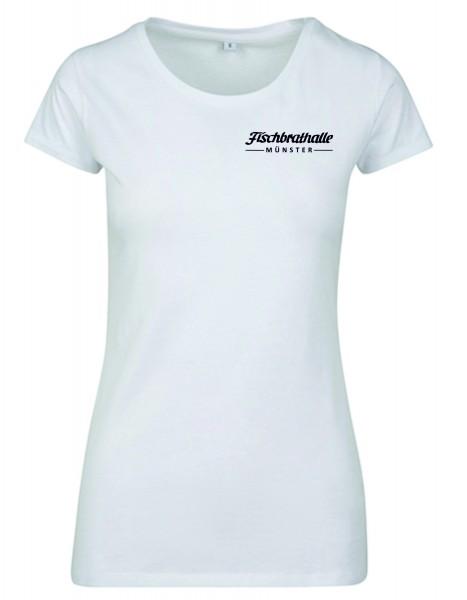 Fischbrathalle Damen T-Shirt weiß