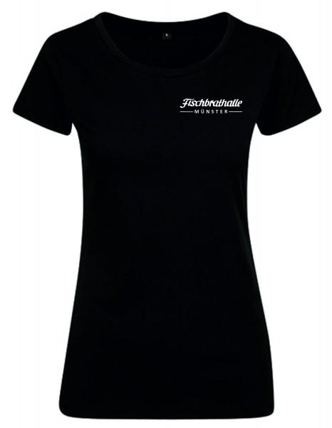 Fischbrathalle Damen T-Shirt schwarz