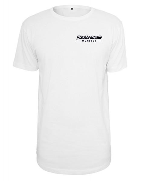 Fischbrathalle Long T-Shirt weiß