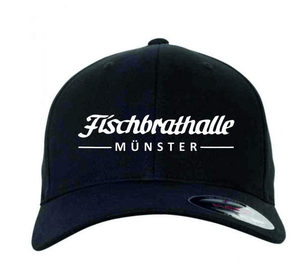 Fischbrathalle Classic Curved Snapback Cap schwarz