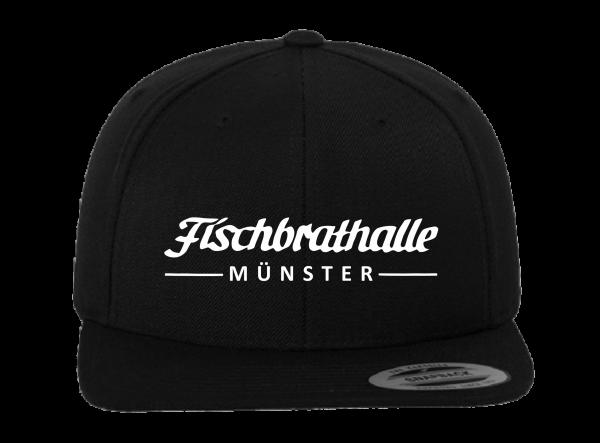 Fischbrathalle Classic Snapback Cap schwarz