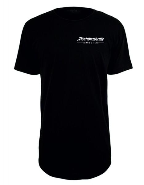 Fischbrathalle Long T-Shirt schwarz